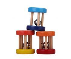 1pcs Holzrassel Glocke Hand Musikalisches Spielzeug Für Baby Zufällige Farbe