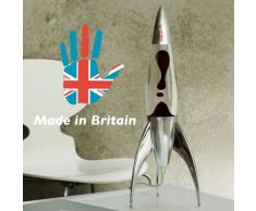 Mathmos Telstar Lavalampe Rakete - Klar/Schwarz