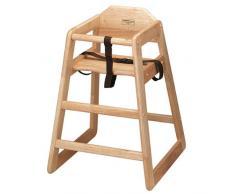 Kinderhochstuhl aus Holz, naturfarben, ideal für den gewerblichen und privaten Gebrauch