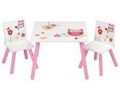 4Uniq Kindersitzgruppe Eule Tisch + Stühle Kindermöbel Kinderzimmer Einrichtung