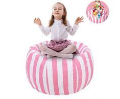 UMYMAYDO1 38 Stofftier Kuscheltiere Aufbewahrung Aufbewahrungstasche Sitzsack Kinder Soft Pouch Stoff Stuhl (Pink)