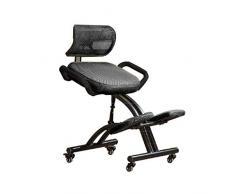 ROMA LT Ergonomischer Computerstuhl, Bürostuhl, Bürostuhl, Rückenschoner, Rückentrage schwarz