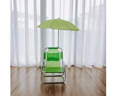 Dalovy Gartenliege Bequemer Kindergartenstuhl Und Sonnenschirm-Kindermöbel Langlebiges Design für Outdoor, Grün