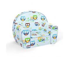 Babysitz Kindermöbel Kindersessel Kleinkind FOTELIK BOBAS (Blau Eule)