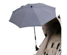 DIAGO Deluxe Sonnenschirm Kinderwagen, grau