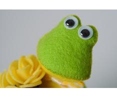 Handmade Kuscheltier Frosch aus Filz klein lustig Geschenk fur Kind