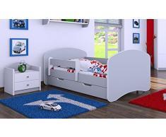 HB Kinderbett mit Matratze und Bettkasten - NEU Grau (160x80)