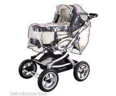 Sunnybaby 13395 Regenverdeck Folie für Kinderwagen mit Schwenkschieber