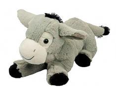 Inware 7138 - Kuscheltier Esel Pauli, grau, Liegend, 35 cm