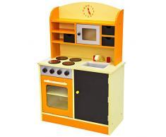 TecTake Kinderküche Spielküche aus Holz orange