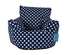 Lounge Pug®, Kindersessel Sitzsack, Sitzsack Kinder, Druck Blau Getupft