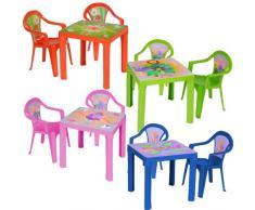 Kinder Sitzgruppe Tisch mit 2 Stühlen Kindertisch Kindermöbel Möbel Tisch Stu (blau)