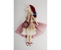 Handgemachtes Spielzeug Pferd Kuscheltier Kinder Spielzeug Stoff Tier stilvoll