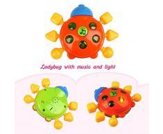 Peradix Baby Greifling Rassel Spielzeug Reizende Farbe Handbell Modell Jingle sch¨¹tteln Ring Bell Ball mit Musik und Licht Kinder Geschenk 6 PCs Set
