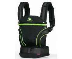 manduca Babytrage > BlackLine ScreaminGreen (Auslaufmodell) < Bauchtrage Hüft- und Rückentrage, Baby- und Kindertrage von 3,5 kg bis 20 kg, schwarz / grün