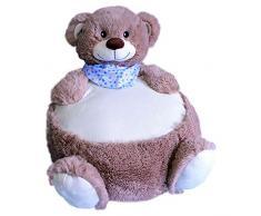 Sunkid Baby-Kinder-Sitzsack Bär Graubraun