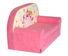 FORTISLINE Kindersofa Mini zum Aufklappen Pink Castle W386_09