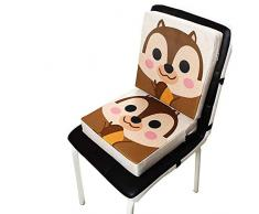 8cm Blau 31.5 Dosige Kinder Sitzkissen Kunstleder Baby Sitzerh/öhung Stuhl Tragbar Verstellbar Zerlegbar Sitzerh/öhungen Kleinkinder Esszimmerstuhl Erh/öHen Pad 31.5