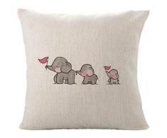 hshi Cute Drei Baby Elefanten Kissen Fall Auto Schlafzimmer Sofa Kissenbezug Warm Home Decor für Kinder Überwurf Kissen Fällen