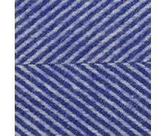 """URBANARA Kissen """"Gotland"""" - 100% Schurwolle/Leinen, Ultramarinblau/Creme - 50 x 50 cm, 1 Kissenhülle + 1 Inlett, Dekokissen, Sofakissen, Wohnkissen"""
