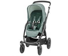 Maxi-Cosi Stella Kinderwagen mit extra großem Verdeck und Outdoor-Reifen, extrem wendig und in Kombination mit Babyschale oder Babywanne ab der Geburt nutzbar (0-15 kg), nomad green
