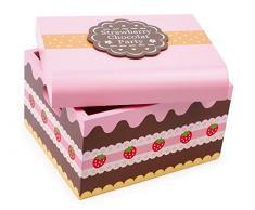 small foot 2847 Süßigkeitenkiste aus Holz, Zubehör für Kaufladen und Kinderküche mit Süßigkeiten, 56-tlg., ab 3 Jahren