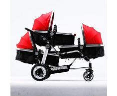 SKYyao Kinderwagen,Sportwagen,Drillinge Kinderwagen Baby Wagen High-Ansicht Kinderwagen Kinderwagen