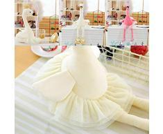Mini Office Depot 30 / 35cm Schwan Plüsch Spielzeug Flamingo - Puppe Stofftier Puppe Ballett (Weiß-Large)