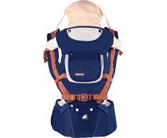 ACEDA Babytrage/kindertrage Bauchtrage Ergonomisch Für Säuglinge Bis 25kg, 4 In 1 Rückentrage Hüfttrage Für Alle Jahreszeite Träger,Pink,Darkblue