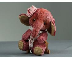 Vintage pluschige Puppe Elefant