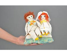 Stoffpuppen Paar Braut und Brautigam
