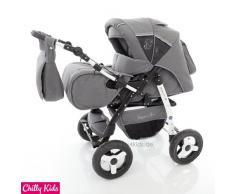 Chilly Kids J1 Kombikinderwagen (Regenschutz, Moskitonetz) 56 Safarigrey