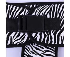 niceEshop(TM) Aus Reiner Baumwolle Baby Kleinkind Verbesserte Dining Hochstuhl Harness Booster Reise Outdoor Auto Tragbar Sicherheit Sicherheitsgurt Bügel, Zebra