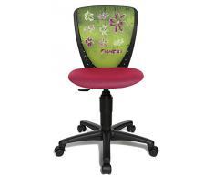 Kinderschreibtischstuhl / Drehstuhl NIC FLOWERS 2013 schwarz-rosa