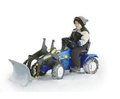 Rolly Toys 046713 rollyFarmtrac New Holland | Trettraktor mit Lader | Traktor mit Sitzverstellung, Flüsterreifen | Frontlader / Schauffellader | ab 3 Jahren | Farbe blau