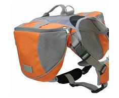 Petown Hunderucksack, Hund Träger,Hund Rückentragen,Hundegeschirr (orange M)