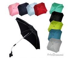 BAMBINIWELT Sonnenschirm für Kinderwagen ECKIG Ø74cm UV-Schutz50+ Schirm Sonnensegel Sonnenschutz (Türkis)