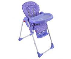Goplus Kinderhochstuhl Treppenhochstuhl Babyhochstuhl Babystuhl Kinderstuhl verstellbar klappbar- diverse Farben (Lila)
