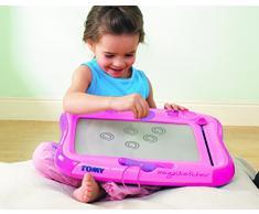 TOMY Magnettafel für Kinder, Magnet Maltafel, Megasketcher in rosa, hochwertiges Kinderspielzeug, Zaubertafel, bunt, ohne Wabenstruktur, fördert die Kreativität, ab 3 Jahre