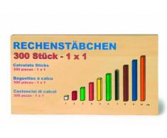 small foot company 1136 Rechenstäbchen, Zahlenspiel aus Holz, Schulbedarf, spielerische Mathe-Lernhilfe, Lernspiel ab 4 Jahre Spielzeug