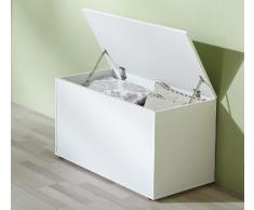 VCM Sitztruhe Krusona | Aufbewahrungsbox, Sitzbank Weiß