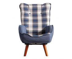 YIJIAHUI-Home Bodenstuhl Gepolsterter Sessel Gepolsterter Stuhl Kindercouch Kindersofa Kleinkinderstühle Geeignet für zu Hause oder im Büro (Color : Blue, Size : 54 * 63 * 93cm)