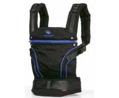 manduca Babytrage > BlackLine AbsoluteBlue (Auslaufmodell) < Bauchtrage Hüft- und Rückentrage, Baby- und Kindertrage von 3,5 kg bis 20 kg, schwarz / blau
