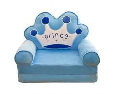 LOVIVER Kindersessel Kindersofa Bezug Sofabezug Sofahusse Sesselüberwurf Stretchhusse Stretchbezug - Blau Krone