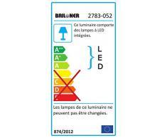 Briloner Leuchten LED Deckenlampe, Deckenleuchte-Wohnzimmer-Schlafzimmer in geschwungener Optik mit dreh- und schwenkbaren Spots, warm weißes Licht, 22,5 Watt / 2.250 Lumen, matt-nickel, 740 x 470 mm