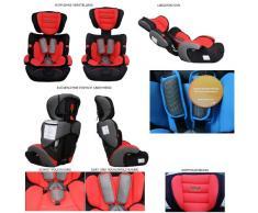 Autokindersitz Kindersitz Gruppe I/II/II 9-36kg - ab 9 Monate 11 Jahre (Grau)