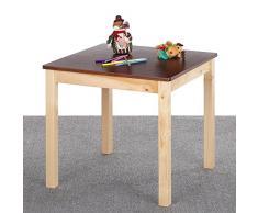 iKayaa Kindertisch Kinderschreibtisch aus Kiefernholz für Kindersitzgruppe 60x60x55cm