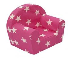 """Sun Garden Kindersessel Pink Sterne """"Laura"""" für Mädchen, kuschelig weicher Schaumstoff Baby-Sessel"""