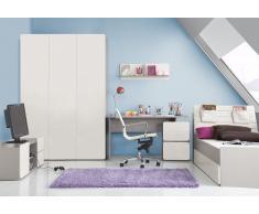 Kinderzimmer Jugendzimmer ELEGANCE mit Dancing Boy Aufdrucken Jugendmöbel Set 4 teilig komplett Kleiderschrank 3-türig Schreibtisch Bett 90x200 Wandregal