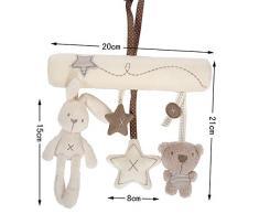 EJY Hängende Sprach Musik Spielzeug Mobile Kaninchen Spielzeug für Baby